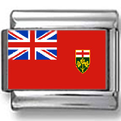 Ontario, Canada Flag Photo Charm