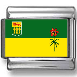 Saskatchewan, Canada Flag Photo Charm