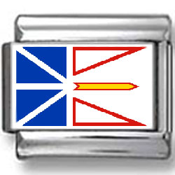 Newfoundland, Canada Flag Photo Charm