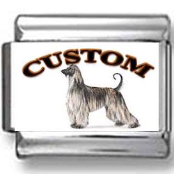Afghan Hound Dog Custom Photo Charm