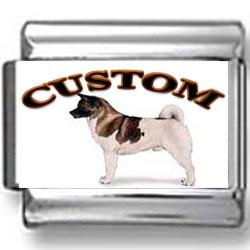Akita Dog Custom Photo Charm