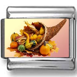 Cornucopia Harvest Photo Charm