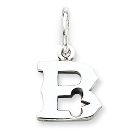 Sterling Silver Initial B Pendant. Price: $12.96