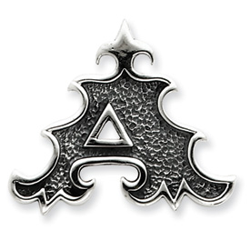 Sterling Silver Antiqued Gothic Initial A Pendant. Price: $56.91