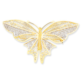 14K Gold Rhodium Butterfly Pin. Price: $353.29
