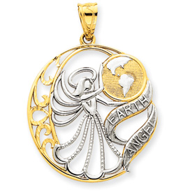 14K Gold & Rhodium Earth Angel Pendant. Price: $219.68