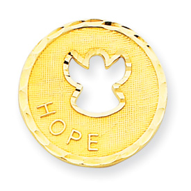 14K Gold  Angel Hope Pendant. Price: $121.62