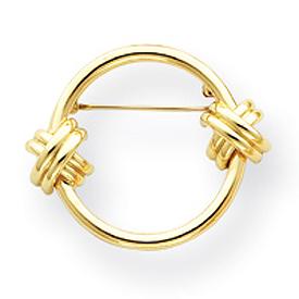 14K Gold Circle Pin. Price: $412.27