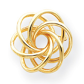 14K Gold Circle Pin. Price: $467.57
