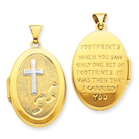 14K Gold Footprints Locket. Price: $249.58