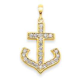 14K Gold AA Diamond Cross Pendant. Price: $763.39