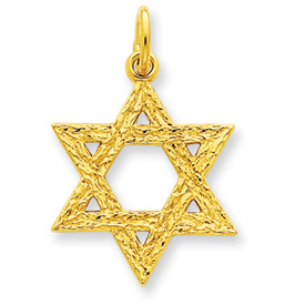 24k Gold-plated Sterling Silver Star of David Charm. Price: $38.85