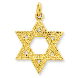 24k Gold-plated Sterling Silver Star of David Pendant. Price: $43.02