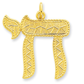 24k Gold-plated Sterling Silver Chai Pendant. Price: $53.55