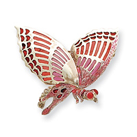 Sterling Silver Pink Enameled lnsect Pin. Price: $57.06