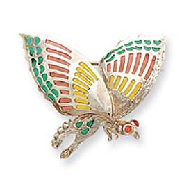 Sterling Silver Multicolored Enameled Insect Pin. Price: $58.59