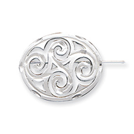 Sterling Silver Satin Finish Diamond Cut Scroll Pin. Price: $40.24