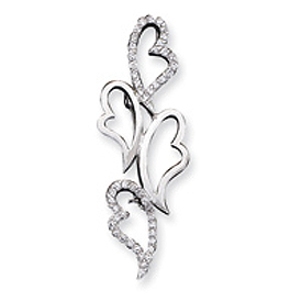 Sterling Silver CZ Hearts Pin. Price: $59.10