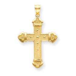 14K Gold Budded Cross Pendant. Price: $203.94