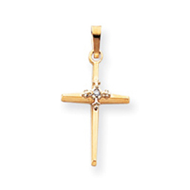14K Gold  Diamond Passion Cross Pendant. Price: $212.44