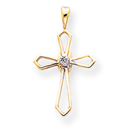 14K Gold Diamond Cross Pendant. Price: $111.56