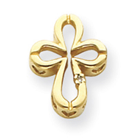 14K Gold  Diamond Cross Pendant. Price: $206.12