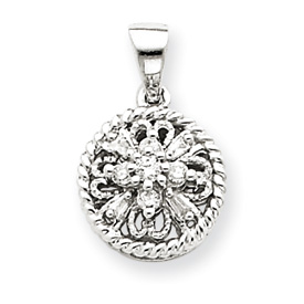 14K  White Gold Diamond Vintage Pendant. Price: $233.36