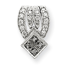 14K  White Gold Diamond Vintage Pendant. Price: $366.66