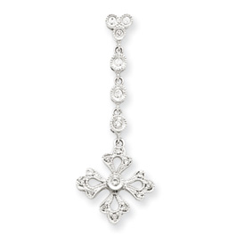 14K  White Gold Vintage Diamond Pendant. Price: $227.72