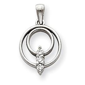 14K White Gold Diamond Pendant. Price: $404.48