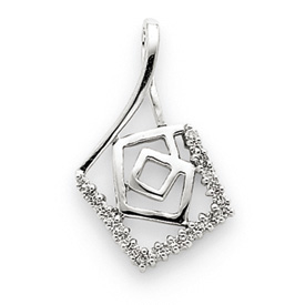 14K  White Gold Diamond Pendant. Price: $225.30