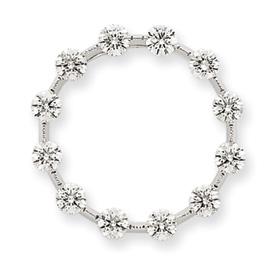 14K White Gold 1.500Ctw  Diamond Circle Chain Slide. Price: $1865.44