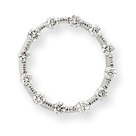 14K  White Gold  Diamond Circle Chain Slide. Price: $286.70
