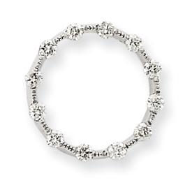 14K  White Gold  Diamond Circle Chain Slide. Price: $286.70