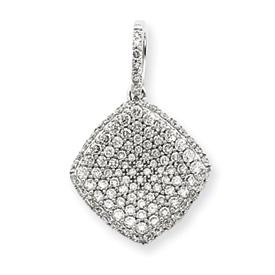 14K White Gold  Diamond Pendant. Price: $971.04