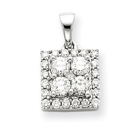 14K White Gold  Diamond Pendant. Price: $554.85