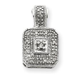 14K White Gold .05Ctw Vintage Diamond Pendant. Price: $345.54
