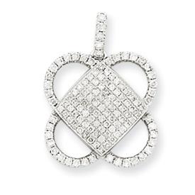 14K  White Gold Vintage Diamond Pendant. Price: $746.88