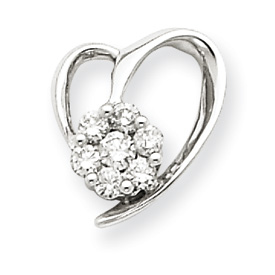 14K  White Gold  Diamond Pendant. Price: $258.78