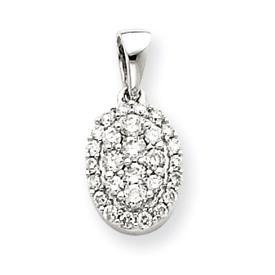 14K  White Gold Diamond Pendant. Price: $306.48