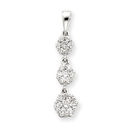 14K  White Gold Diamond Journey Pendant. Price: $439.81