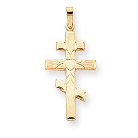 14K Gold Eastern Orthodox Cross Pendant. Price: $158.72