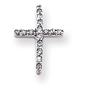 14K White Gold Diamond Latin Cross Pendant. Price: $221.84