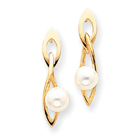 14K Gold Pearl Earring. Price: $455.52
