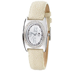 Ladies' Charles Hubert Creme Stingray Band Diamond Watch. Price: $914.34