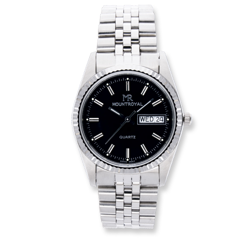 Men's Mountroyal Black Dial Stainless Steel Water Resistant Watch. Price: $96.00