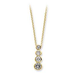 Sterling Silver Vermeil CZ Journey Necklace. Price: $28.92