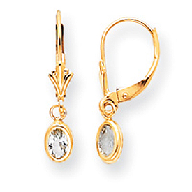 14K Gold Aquamarine Earrings - March. Price: $101.78