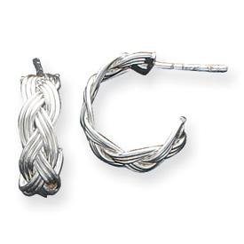 Sterling Silver Polished J-Hoop Earrings. Price: $42.48