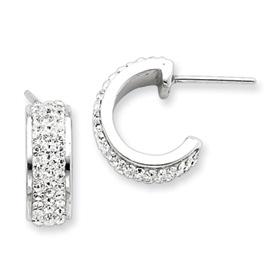 Sterling Silver With Swarovski Crystal Hoop Earrings. Price: $49.08